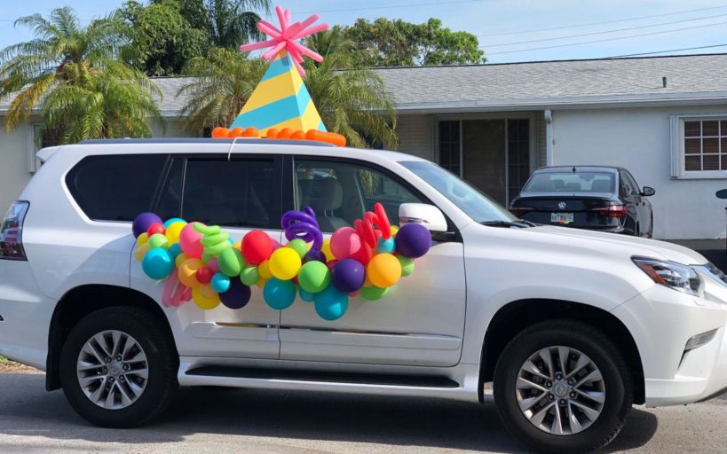 people can decorate their cars for the drive by party