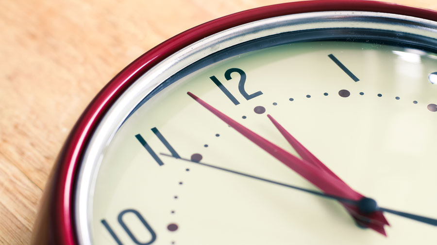a clock, keep curfews in mind when in the Mitzvah planning process post-COVID