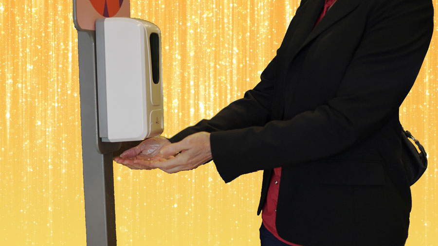 Hand Sanitizing Station to make your mitzvah feel clean safe and smart! Keep in mind for your Mitzvah planning post-COVID