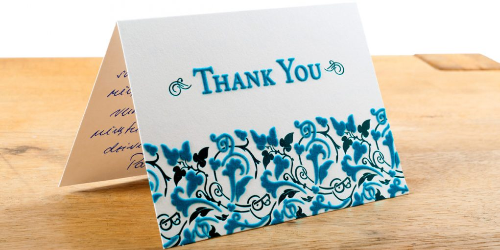 The Dreaded Mitzvah Thank You Notes Big Thank you Note with embossed Paper